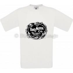 T-shirt Ford Motor Co. Detroit blanc homme