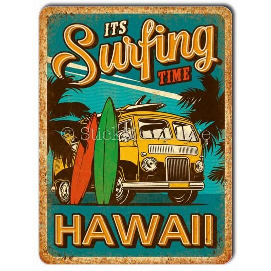 Plaque métal Surf Combi Hawaii
