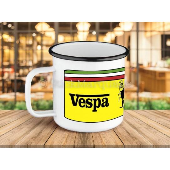 Tasse métal émaillé Vespa