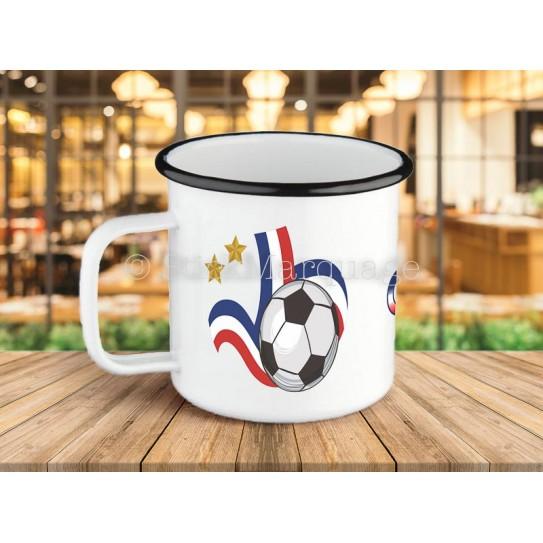 Tasse à café Coupe du Monde en métal émaillé