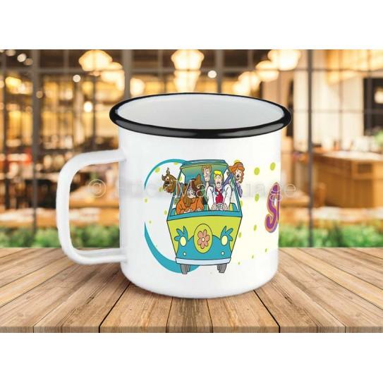 Tasse à café Scooby Doo en métal émaillé