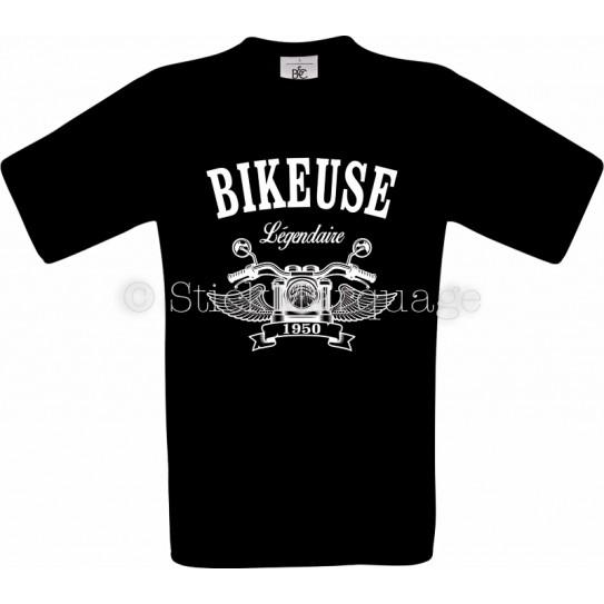 T-shirt Bikeuse Moto Légendaire