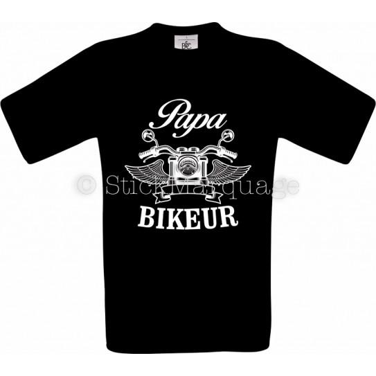 T-shirt noir Papa Biker