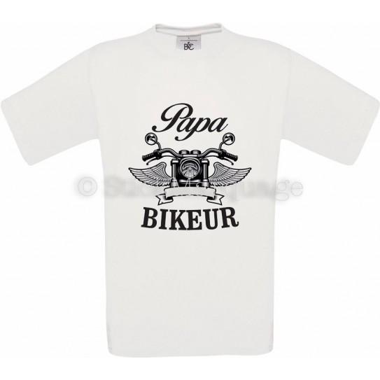 Tee-shirt blanc Papa Biker