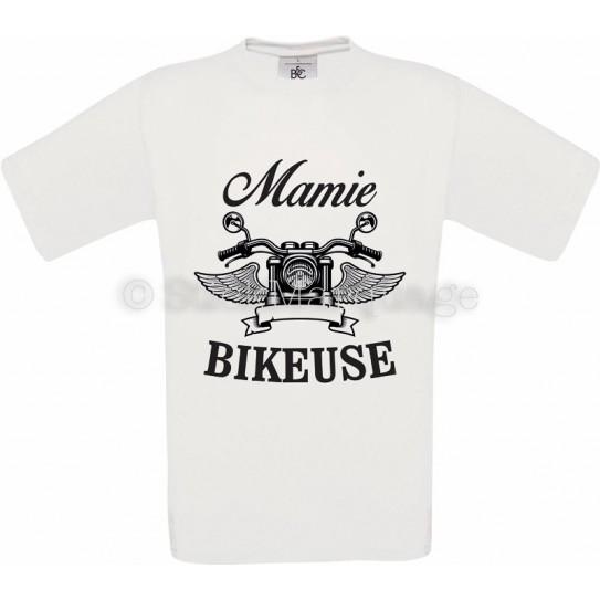 T-shirt blanc Mamie Bikeuse