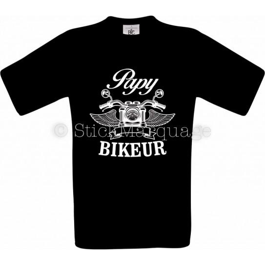 T-shirt noir Papy Biker